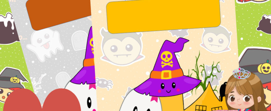 Boo! Super-Cute Kawaii Halloween Haunted House Belongs To Pages