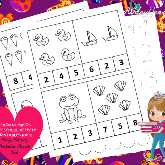 Learn Numbers Homeschool Activity Printables Pack