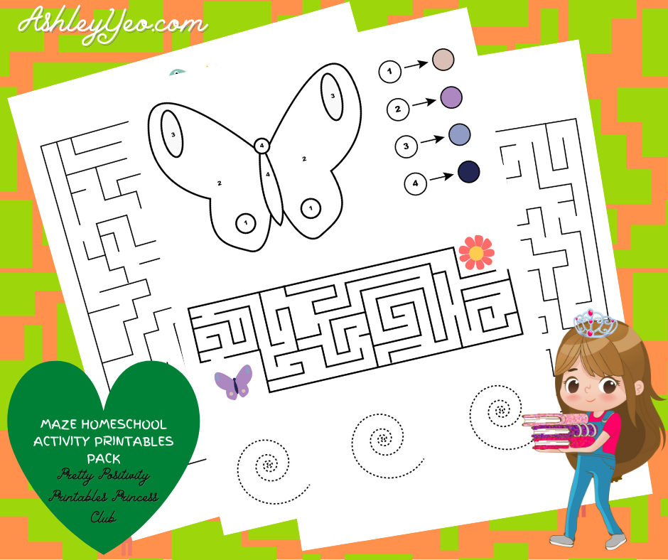 Maze Homeschool Activity Printables Pack