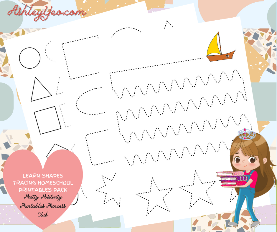Learn Shapes Tracing Homeschool Printables Pack