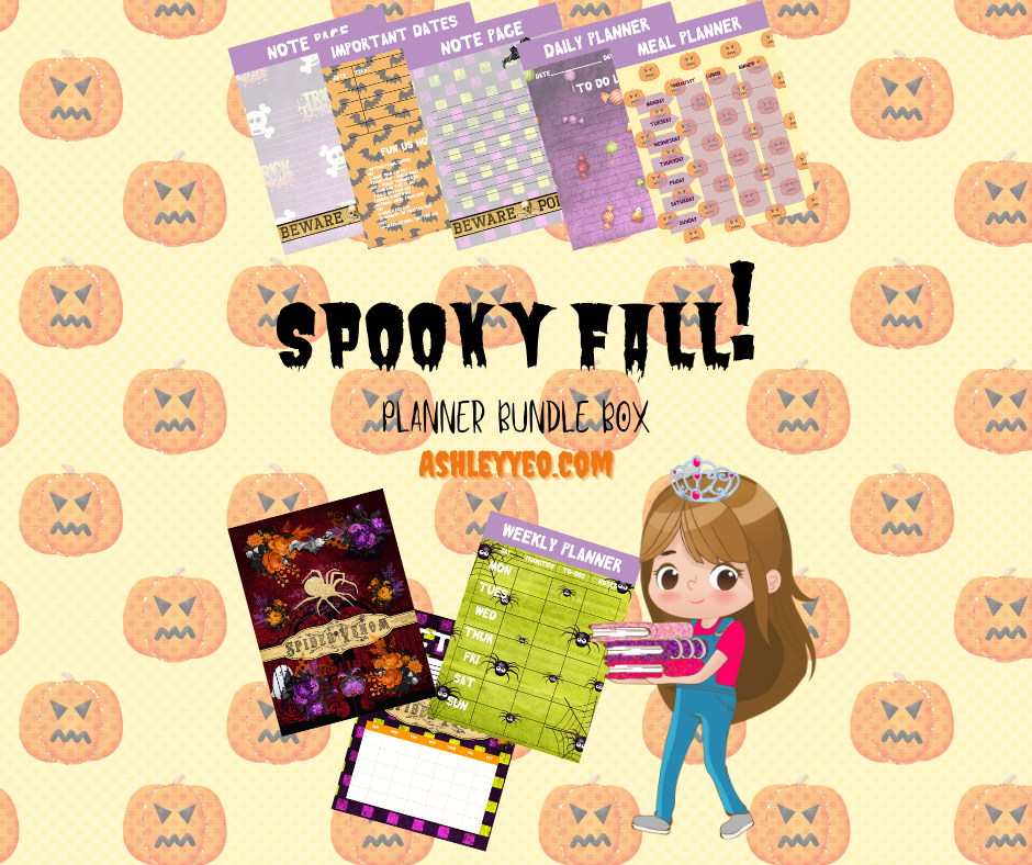 Spooky Fall October 2020 Planner Printables