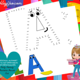 Homeschool Alphabet Dot To Dot Printables For Preschoolers Set Is Out!
