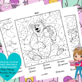 Homeschool Color By Number Printables For Preschoolers Set Is Out!