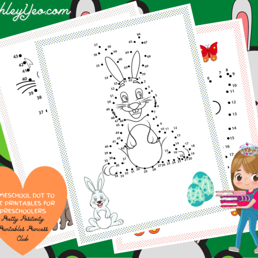 Homeschool Dot To Dot Printables For Preschoolers Mockup