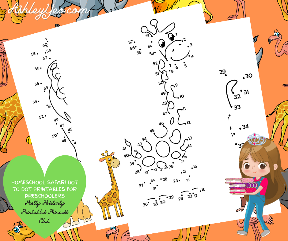 Homeschool Safari Dot To Dot Printables For Preschoolers Mockup