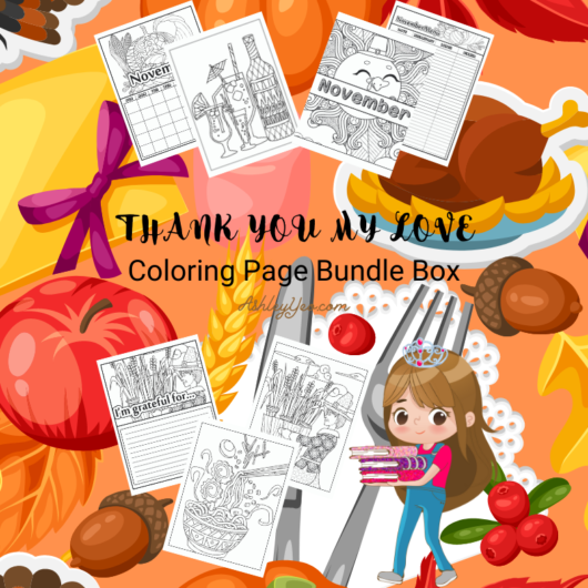 Thank You My Love November Coloring Pages