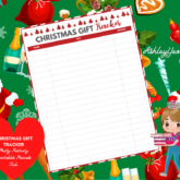 Christmas Gift Tracker 2 Printable - Sweet Mix and Match Christmas Planner Printables Set