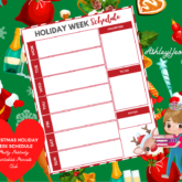Christmas Holiday Week Schedule Printable - Sweet Mix and Match Christmas Planner Printables Set