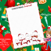 Christmas Journaling Page Design 5 Printable - Sweet Mix and Match Christmas Planner Printables Set