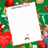 Christmas Journaling Page Design 3 Printable - Sweet Mix and Match Christmas Planner Printables Set