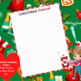 Christmas Journaling Page Design 2 Printable - Sweet Mix and Match Christmas Planner Printables Set