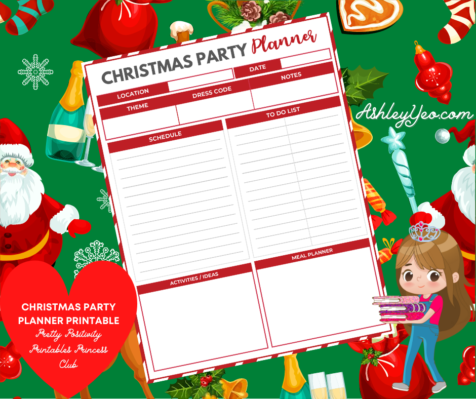 Christmas Party Planner Printable - Sweet Mix and Match Christmas Planner Printables Set