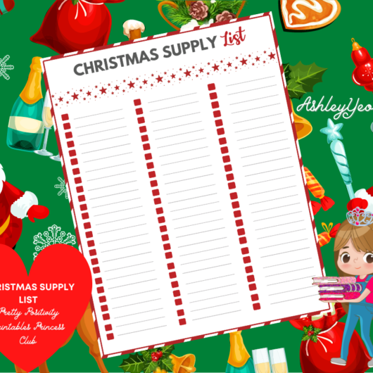 Christmas Supply List