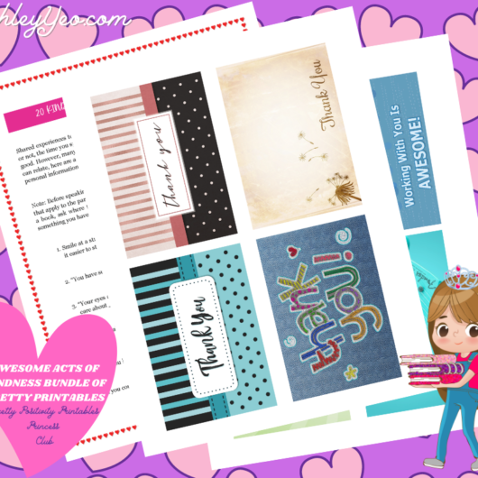 Awesome Acts Of Kindness Bundle of Pretty Printables