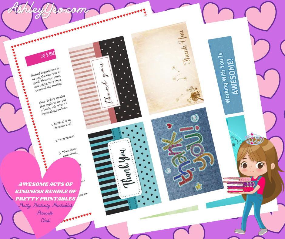 Awesome Random Acts Of Kindness Bundle of Pretty Printables