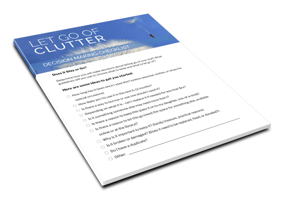 Let Go Of Clutter - Decision Making Checklist - 1