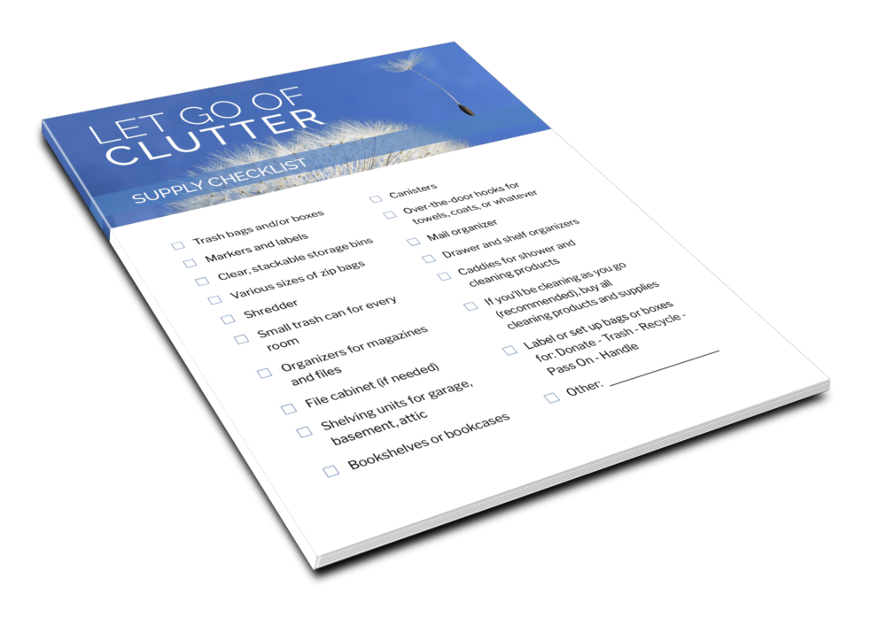 Let Go Of Clutter - Supply Checklist - 1