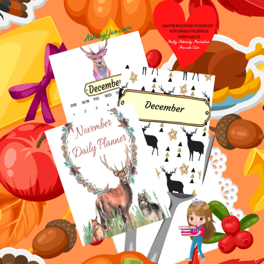 Happy Holiday Planners - November Planner Printables Are Out!