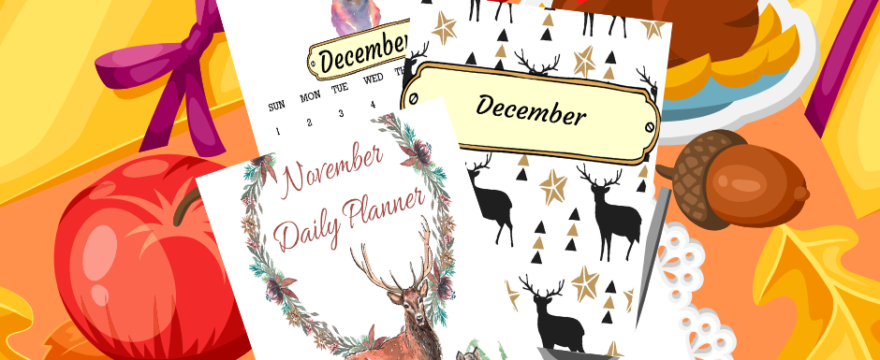 Happy Holiday Planners – November Planner Printables Are Out!
