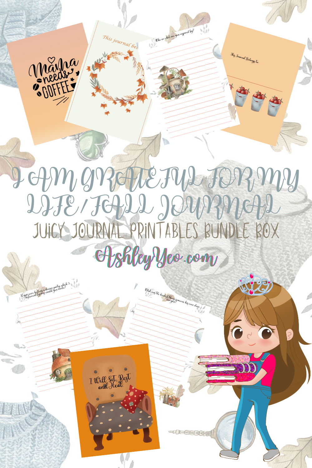 I Am Grateful For My Life – November Printable Journal Pages, November Journal Prompts And November Writing Prompts