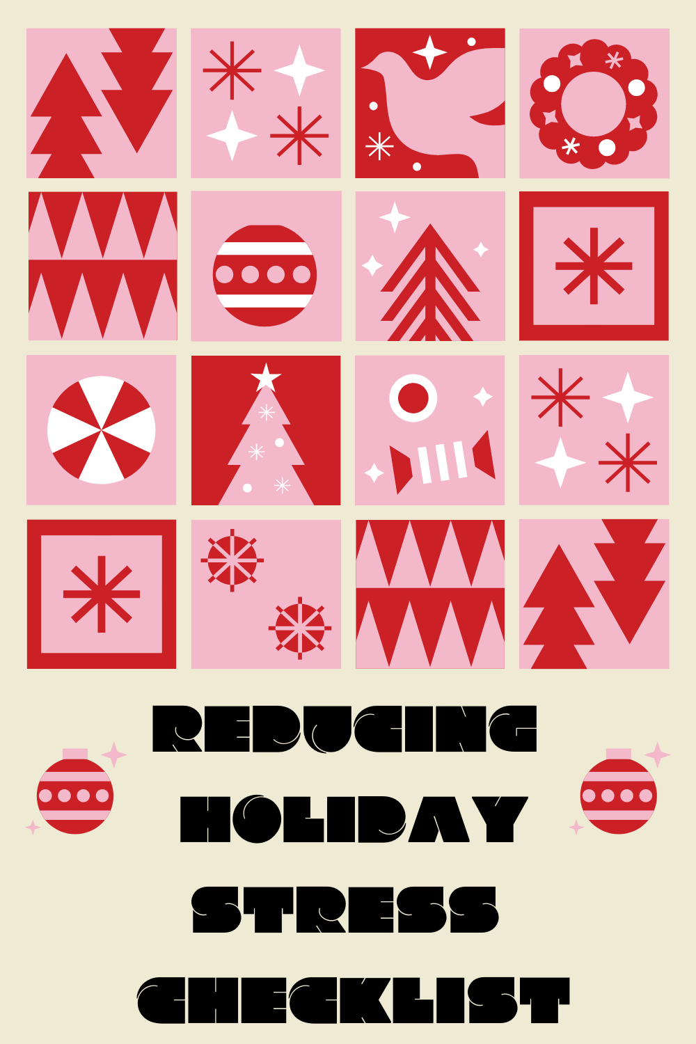 Reduce Holiday Stress Checklist
