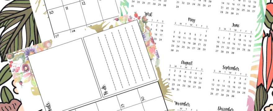 Just Released – Pretty Floral Planner Printables Bundle For 2021