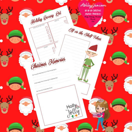 Ho Ho Ho Christmas Journal Printables - December Printable Journal Pages, December Journal Prompts And December Writing Prompts