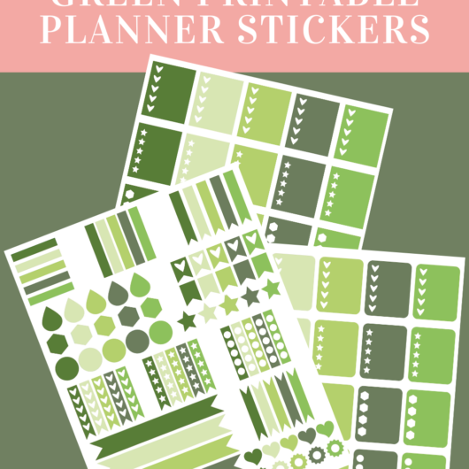 Delightful Green Printable Planner Stickers