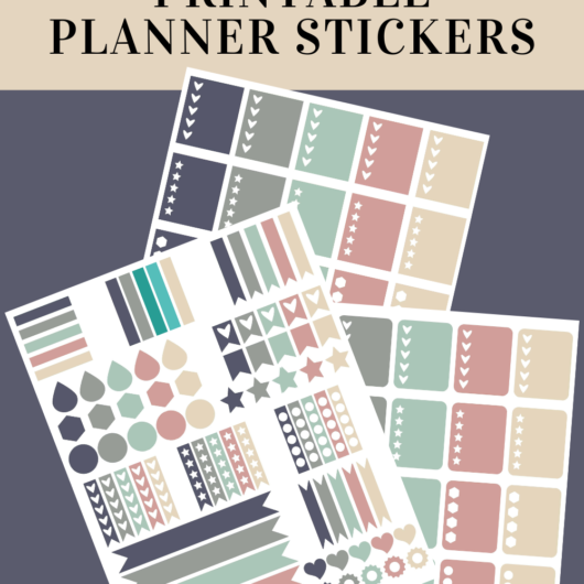 Pretty Pastel Printable Planner Stickers