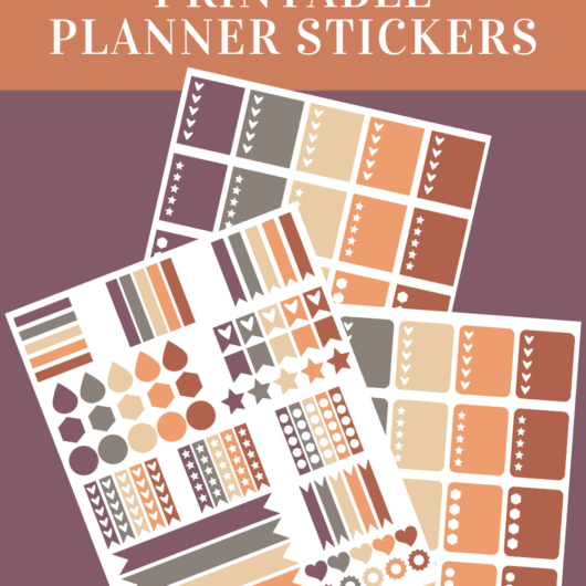 Royal Purple Printable Planner Stickers