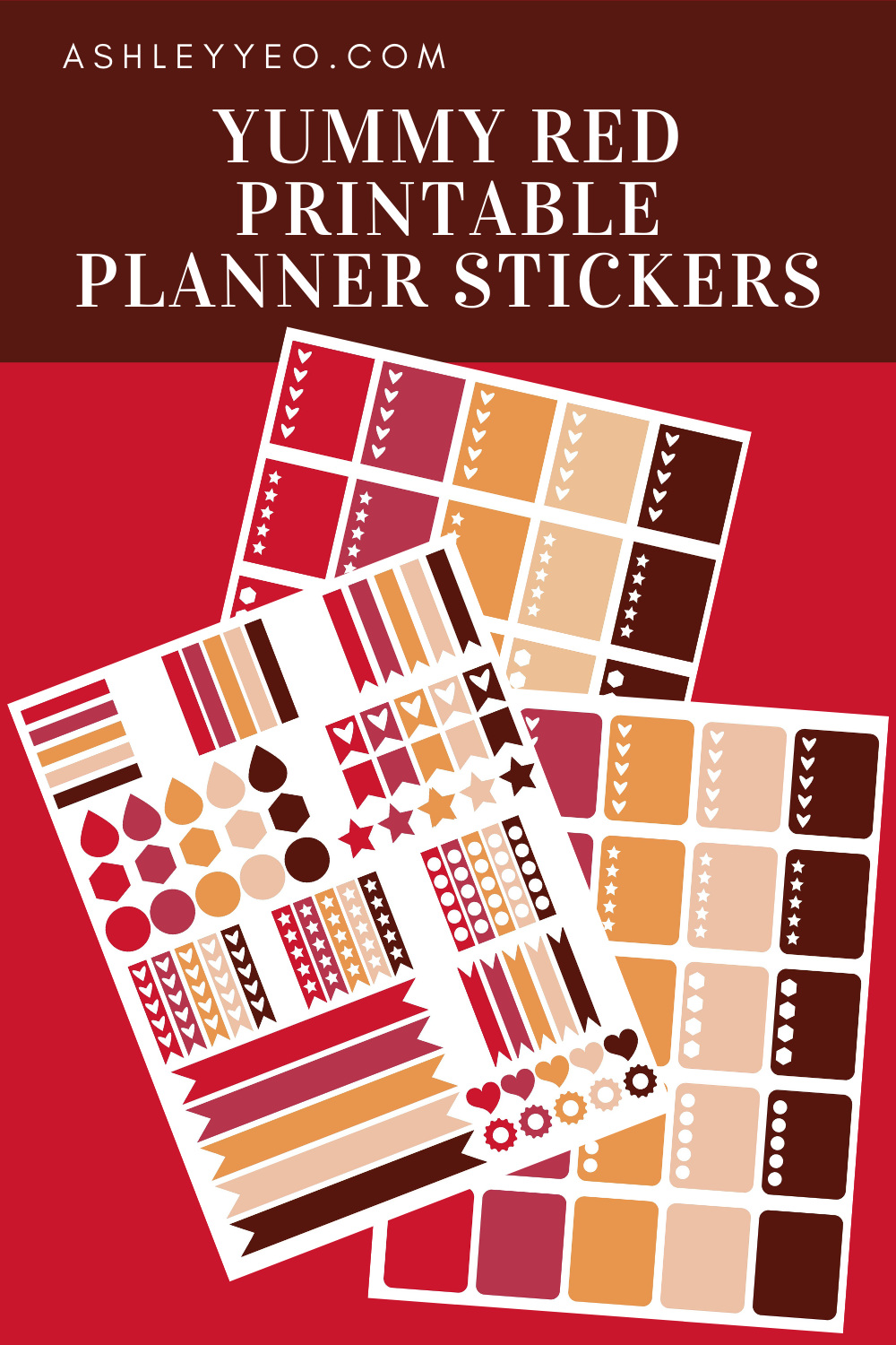 Yummy Red Printable Planner Stickers