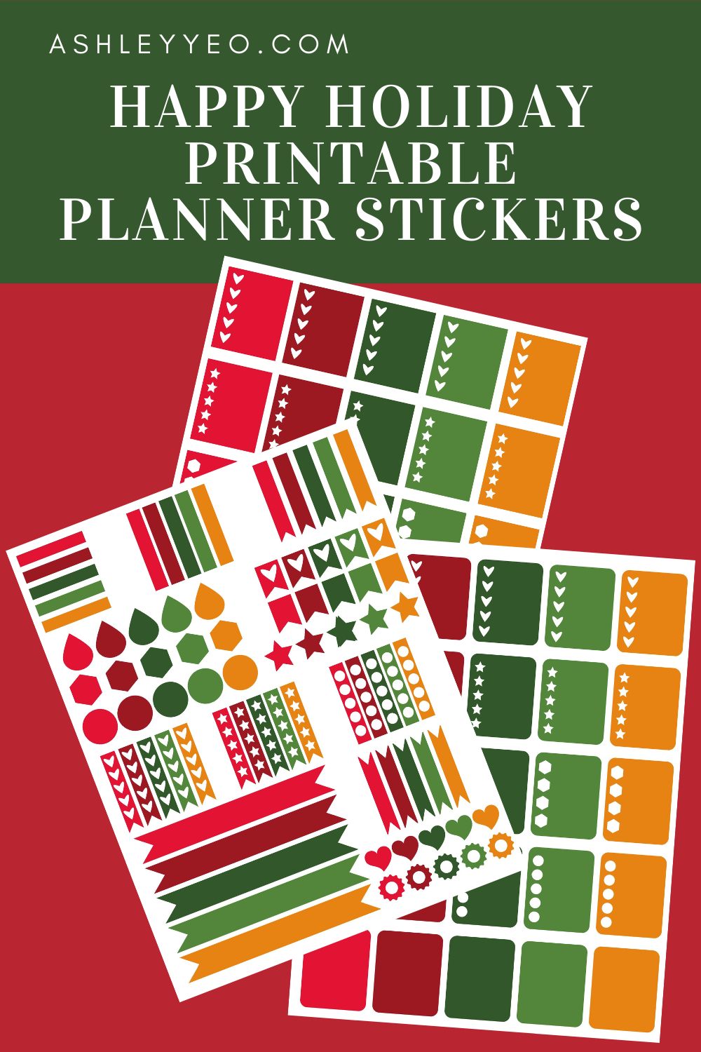 Happy Holiday Printable Planner Stickers