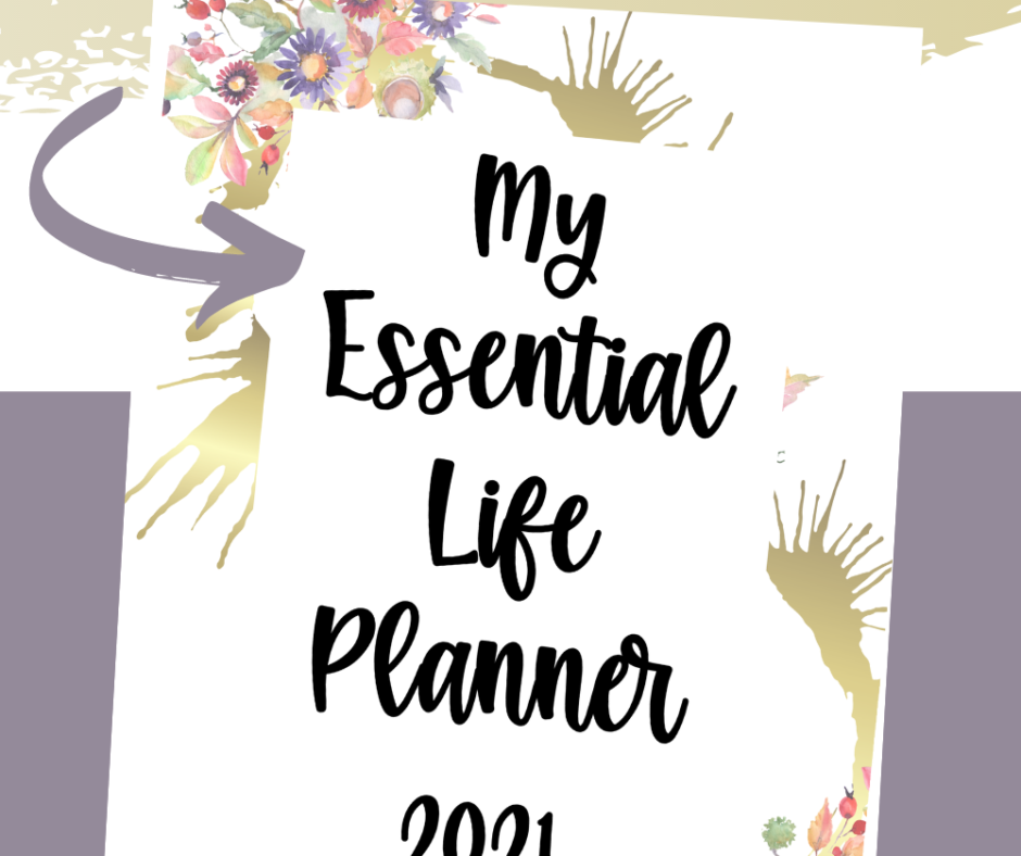 Floral Essential Life Planner Printable Cover Page