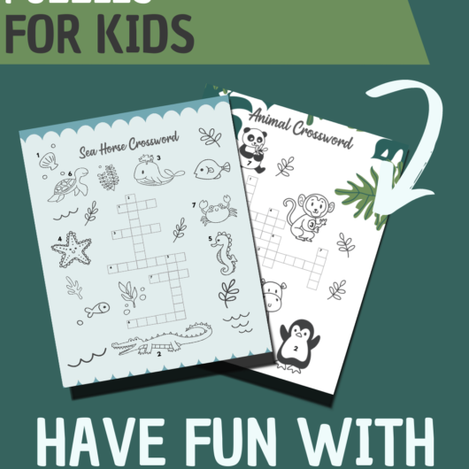 2 Simple Crossword Puzzle Printables For Kids