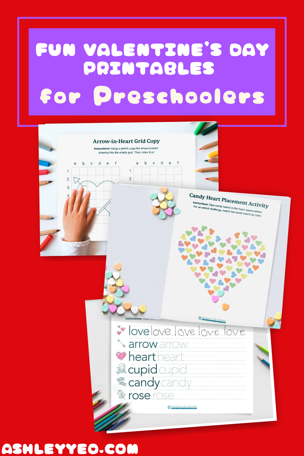 Fun Valentine's Day Printables for Preschoolers