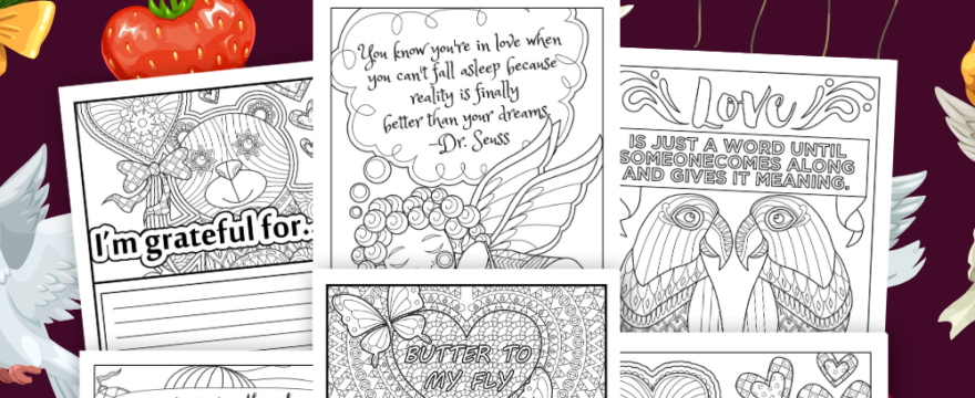 Valentine's Day February Coloring Pages