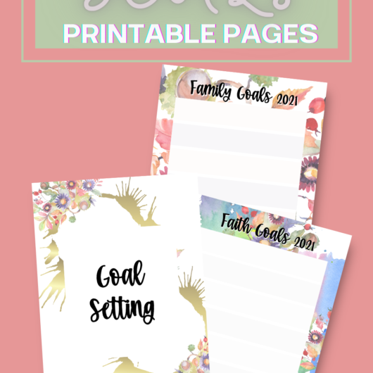 Great Goals Printable Pages