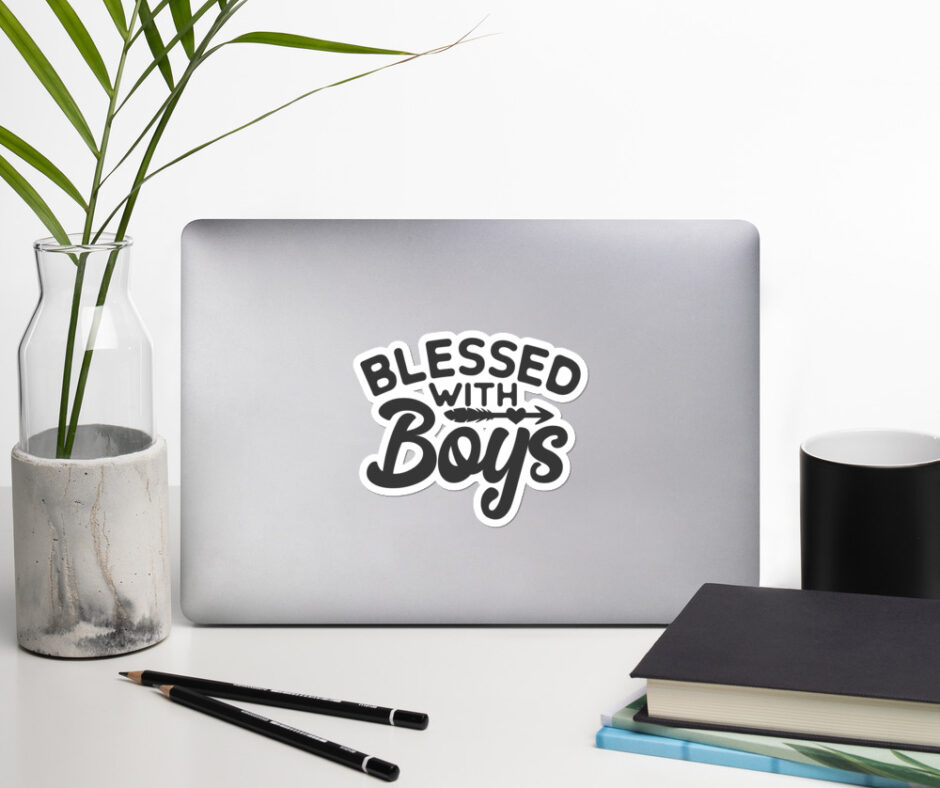 Blessed With Boys Sticker