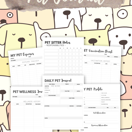 Pretty Pet Journal Printables