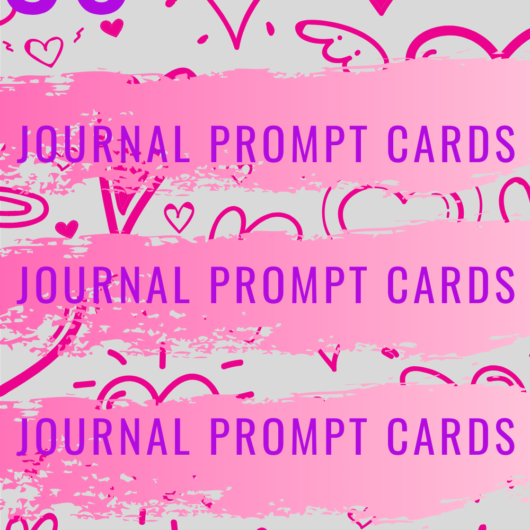 36 Love and Relationship Journal Prompt Cards Set 1