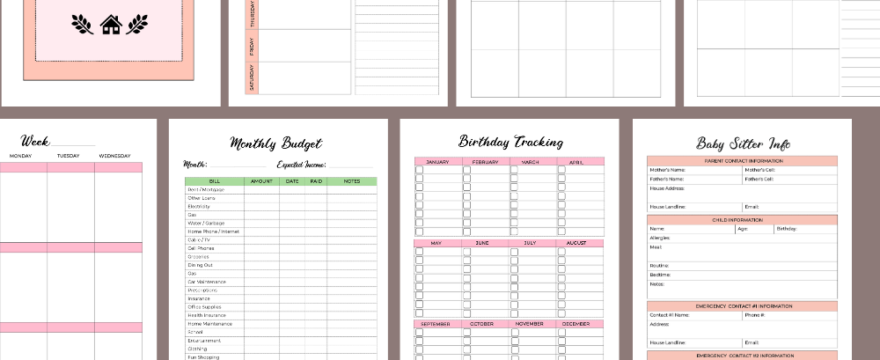 Busy Bee Mom Planner Printables Are Out