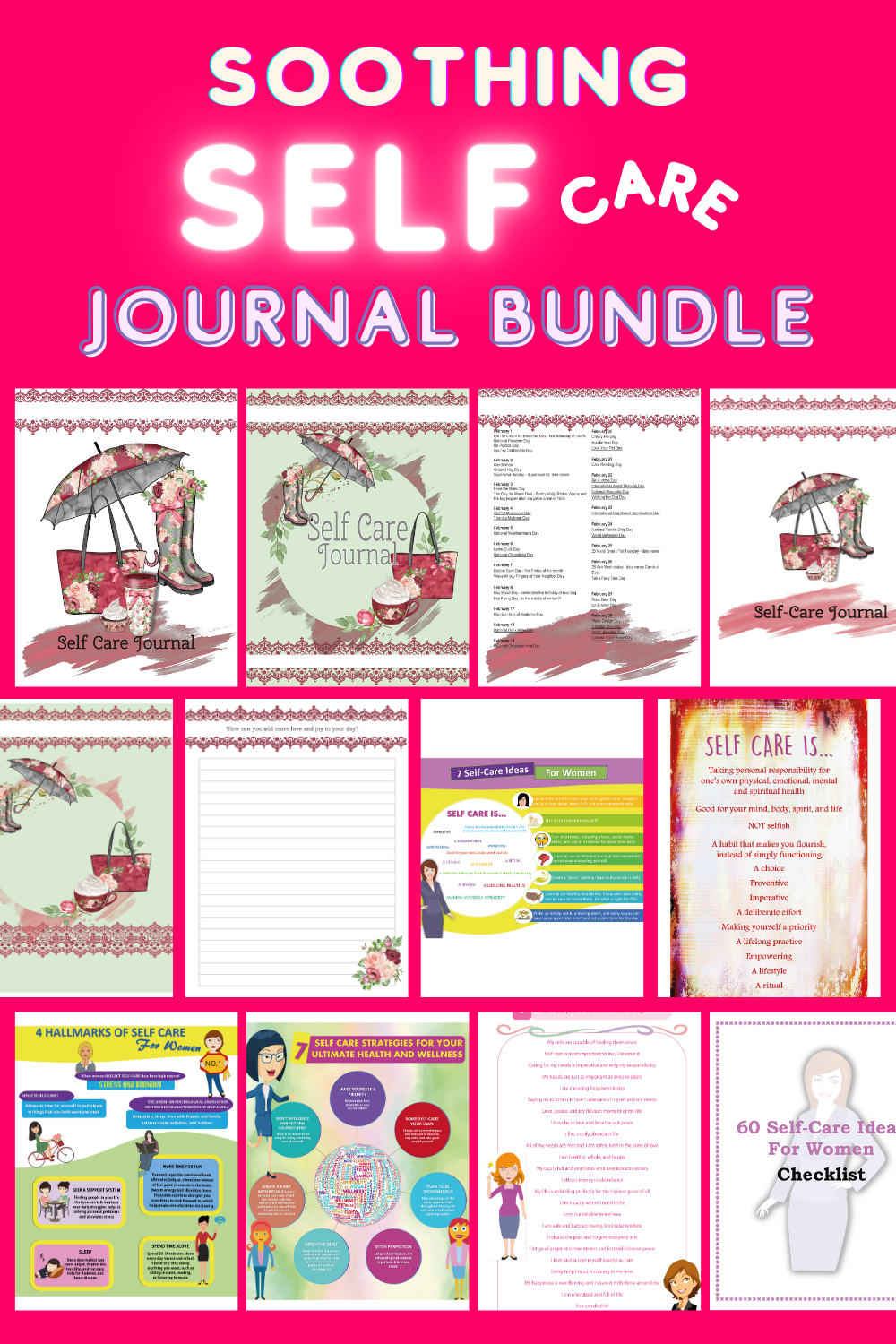 Soothing Self-Care Journal Bundle