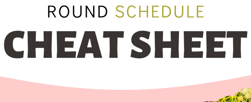 Homeschool Year Round Schedule Cheat Sheet