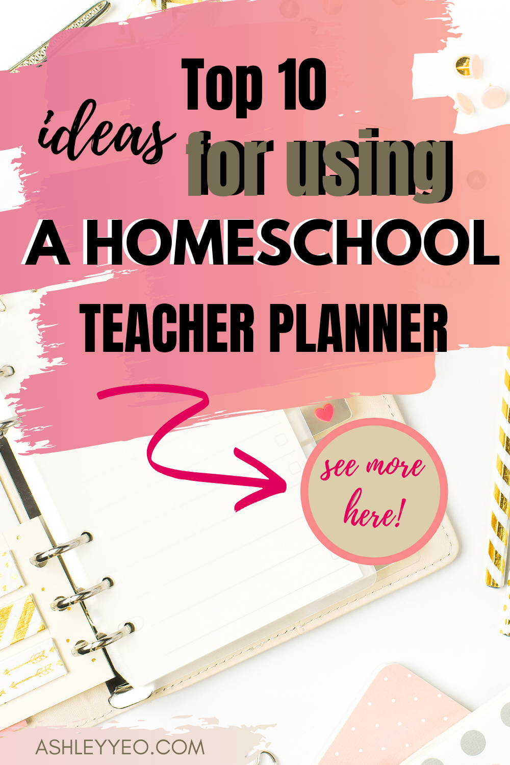 Top 10 Ideas for Using A Homeschool Teacher Planner