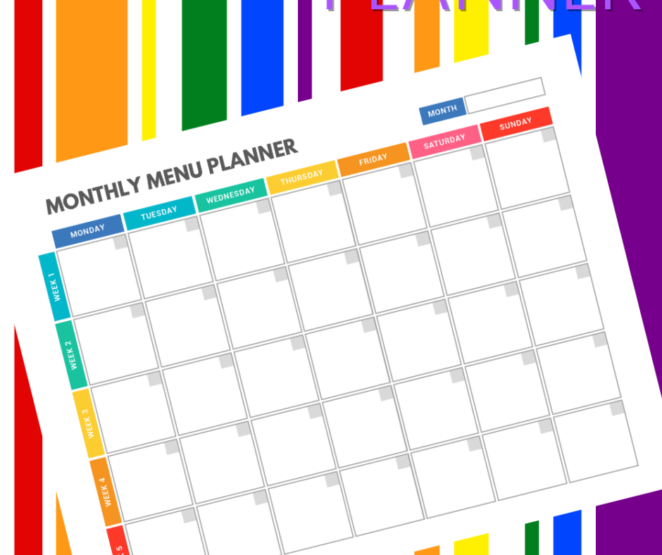 Marvelous Menu Planning PDF For Your Family