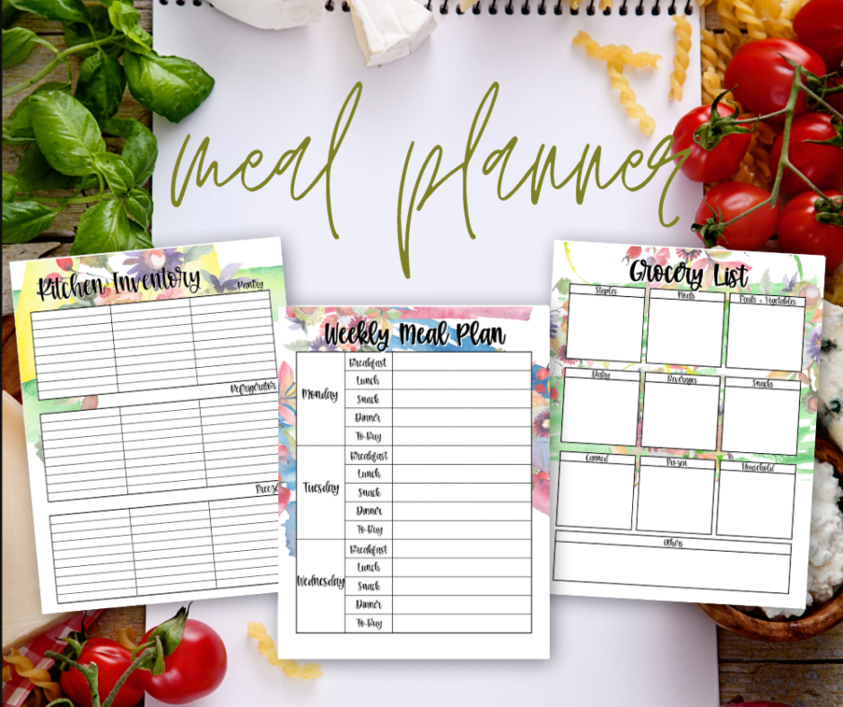 Printable Paper Meal Planner For Family Feasts