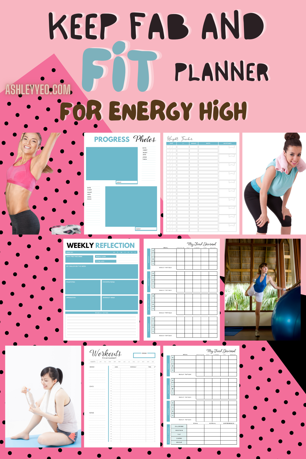 Keep Fab And Fit Planner For Energy High