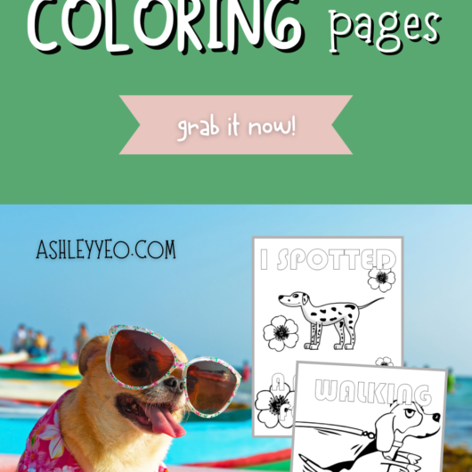 Woof Woof Dog Coloring Page Set