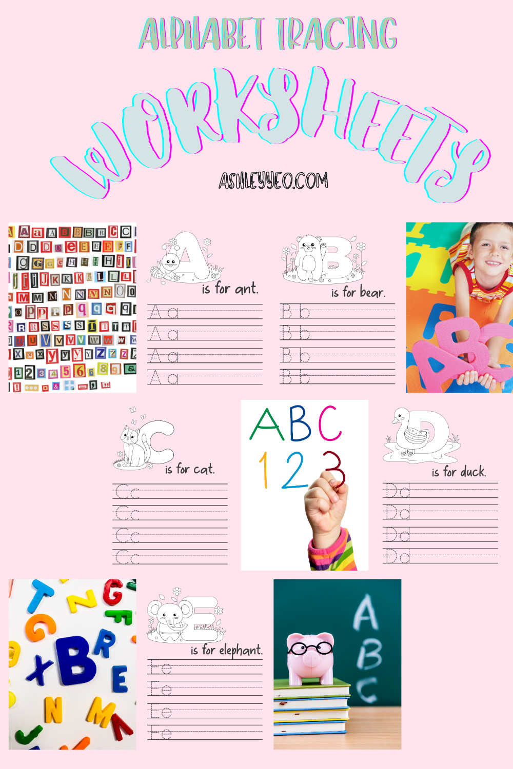 Alphabet Tracing Worksheets For Your Little Ones