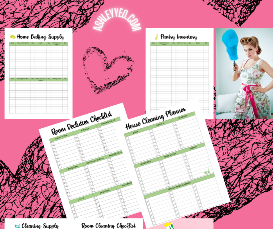 Weekly Cleaning Planner And Food Inventory Planner